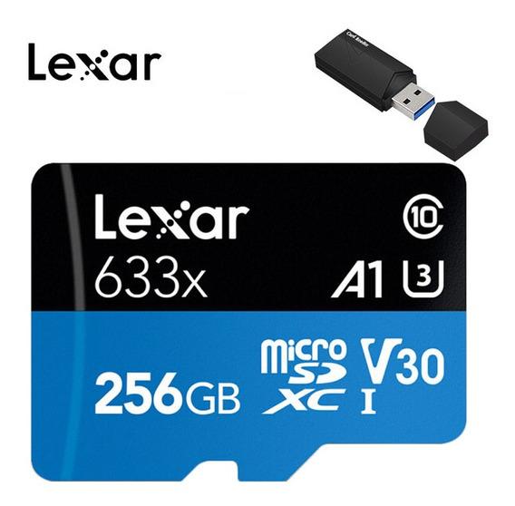 Lexar 95mb/s 256gb Cartão Micro Sd Sdhc Cartão De Memória Fl