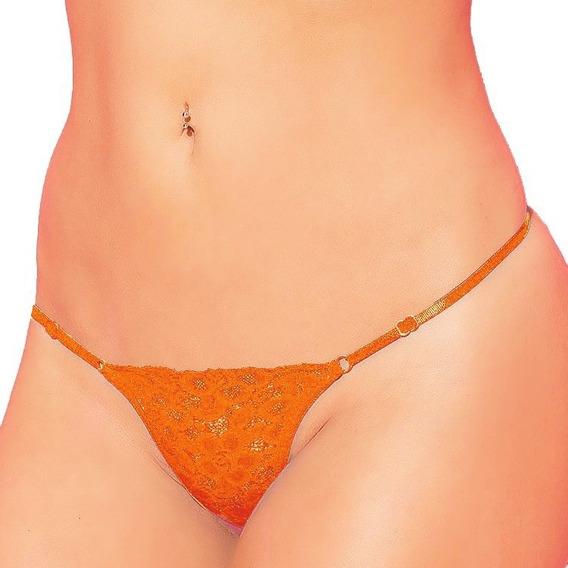 Colaless Regulable De Puntilla Color Naranja - Malena - Fun*