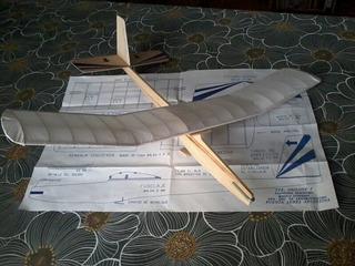 Avion Origone 1 P/ Armar Aeromodelismo Escolar Madera Balsa