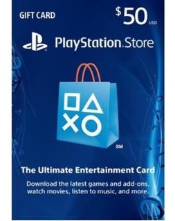 Sony - Playstation Network Card Psn $50 Ps3 Ps4 Psv