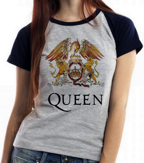 Blusa Baby Look Falcao Top Queen Freddie Mercury Banda Rock