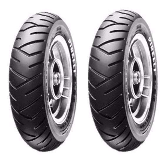 Kit Pneu Pirelli 90/90-12 + 100/90-10 Sl26 Honda Lead 110