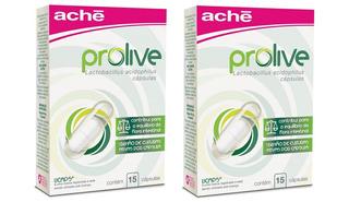 Kit 2 Suplementos Prolive Lactobacillus - 15 Cápsulas Cada