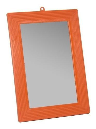 Espelho 13x18 Borda Laranja