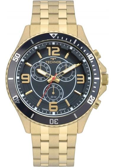 Relógio Technos Esportivo Dourado Multifunção Js00ao/4a