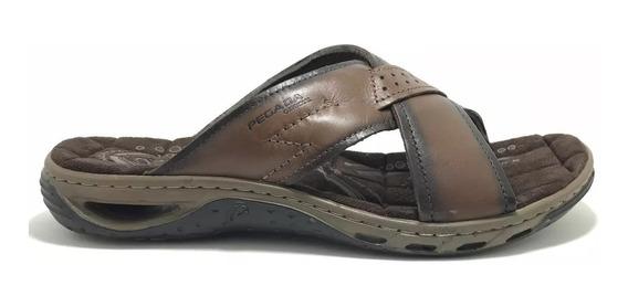 Sandália Masculina Pegada Couro Top Confortável 131661