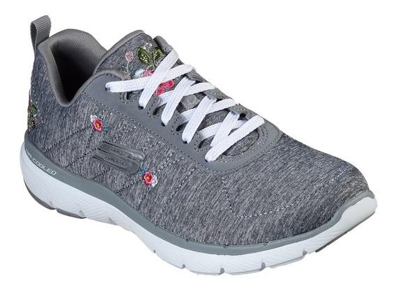 Zapatillas Skechers Flex Appeal 3 In Blossom Mujer Caminata