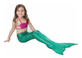 Cauda De Sereia Infantil +biquini Sem Nadadeira Atacado #221