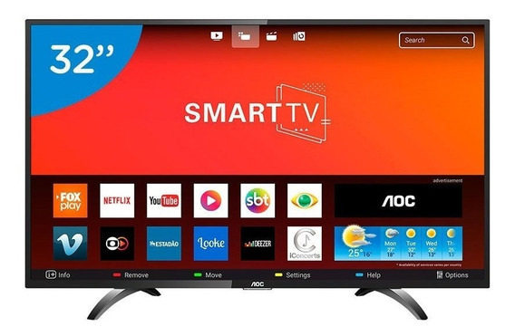 Smart Tv Led 32 Hd Aoc Com Wi-fi Botão Netflix App Gallery