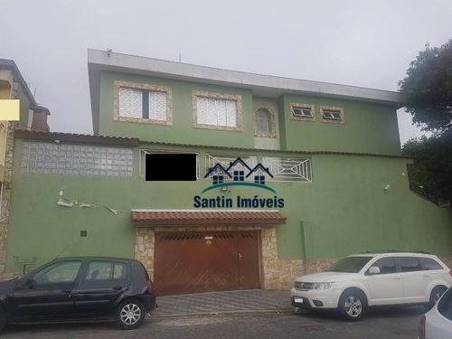 Sobrado De 276 M² Com 03 Dormitórios (sendo 01 Suíte) À Venda, Por R$ 845.000 - Jardim Das Nações - Diadema/sp - So0329