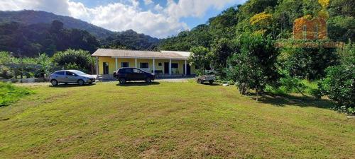Chácara Com 3 Dormitórios À Venda, 7000 M² Por R$ 490.000 - Parque Serra Mar - Peruíbe/sp - Ch0136