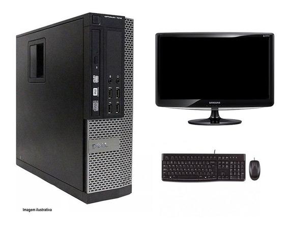 Computador Desktop Dell 7010 I3 4gb 120ssd Monitor 18