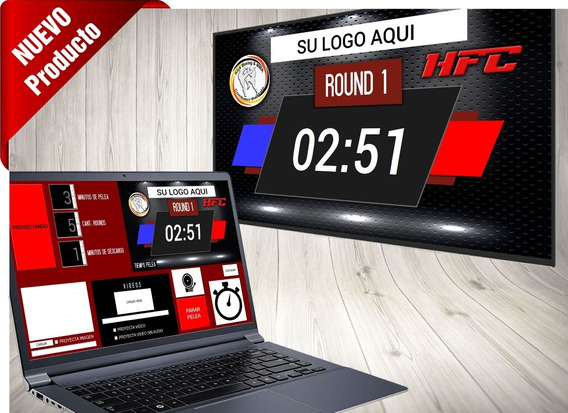 Timer Boxeo Kickboxing Digital - Notebook + Tv Lcd