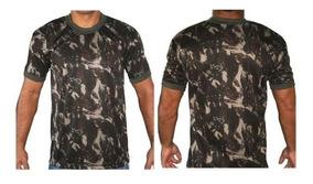 Camiseta Camuflada Dry Fit Padrão Exército Brasileiro