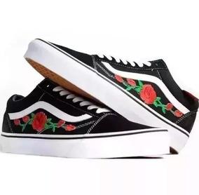 5d6583194f0 Tenis Vans Old Skool Flor Flores Original Rosas Mega Oferta