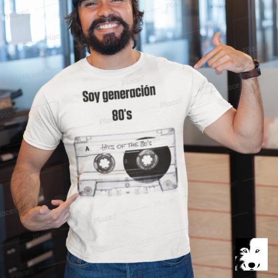 Playera Algodón Cassette 80s #huskyplayeras