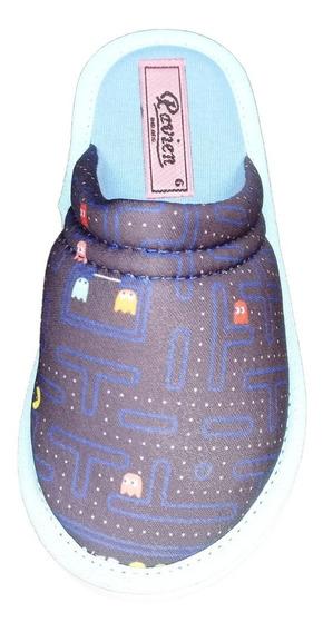 Pantufla Para Niño Y Niña Cerrada Sublimada A17