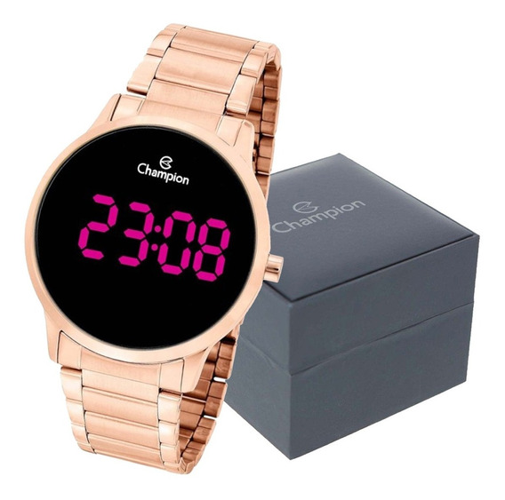 Relógio Champion Feminino Digital Rose Gold Original Garanti