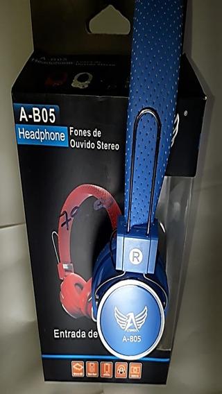 Fone De Ouvido Sem Fio Bluetooth P/ Cartão De Memória E P2