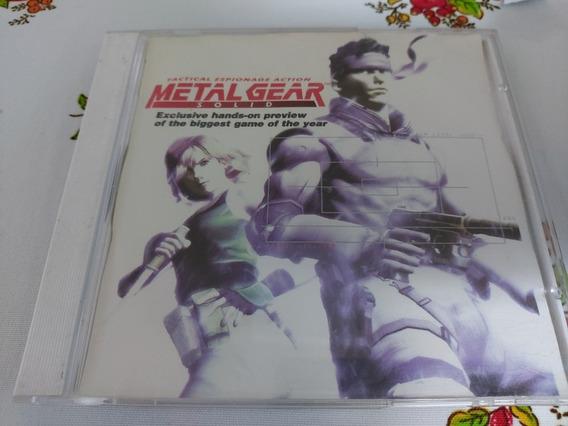 Metal Gear Solid Playstation One Ps1 Patch Prensado Prateado