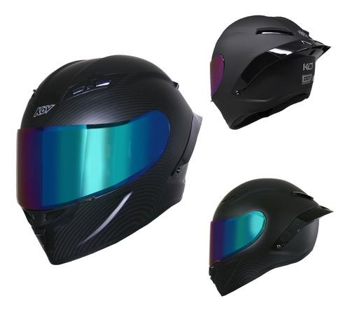 Imagen 1 de 8 de Casco Para Moto Kov Deportivo Kc1 Tipo Agv Certificado