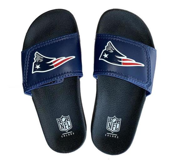 Chinelo New England Patriots Slide Velcro - Nfl