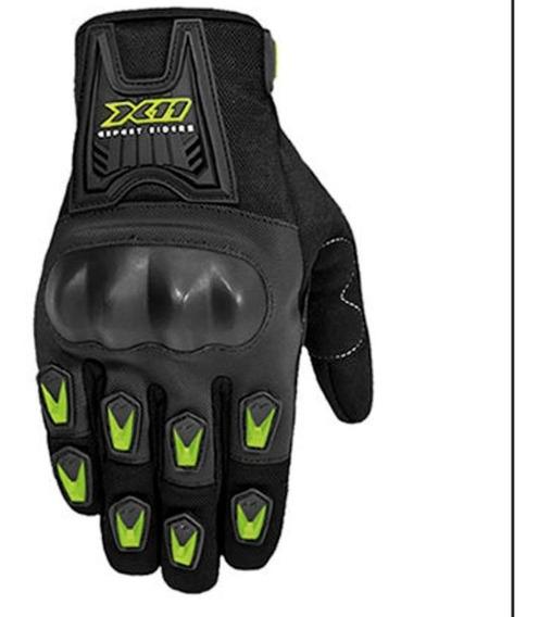 Luva X11 Blackout Motociclista Moto C/protetor Neon