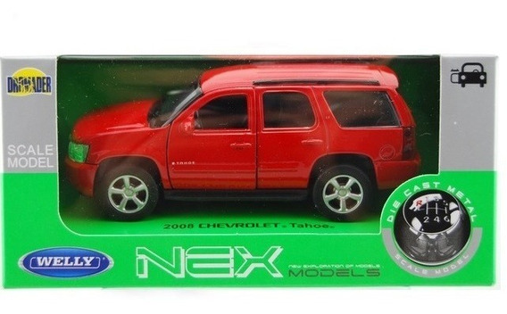 Auto Autito Chevrolet Tahoe Escala 1:36 Welly Fricción Metal