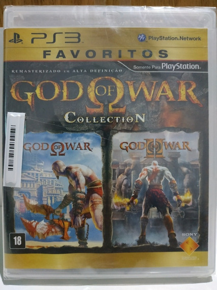 God Of War Collection Ps3 Original Lacrado Mídia Física