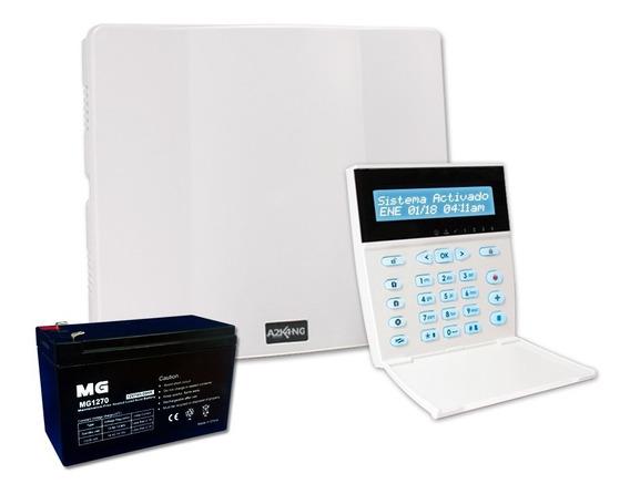 Alarma Cableada 7 Zonas Alonso Con Teclado Lcd Bateria 12 C