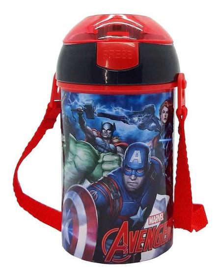 Vaso Cantimplora Avengers C/pico Licencia Original Sp332