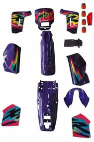 Kit Plástico Carenagem Adesivad Honda Xr 200 Roxo 1998 Pç 14