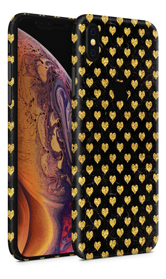 Skin Gold Hearts Para Telefonos Apple iPhone