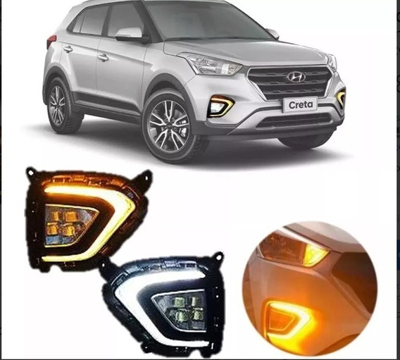 Farol Auxiliar Hyundai Creta Led C/ Seta 2020