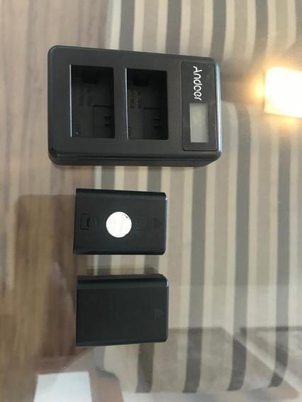 Carregador Duplo Andoer P/ Baterias Np-fw50 Linha Sony
