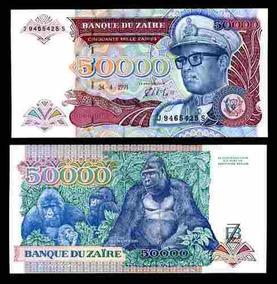 Zaire 50000 Zaires 1991 P. 40 Fe Cédula - Tchequito