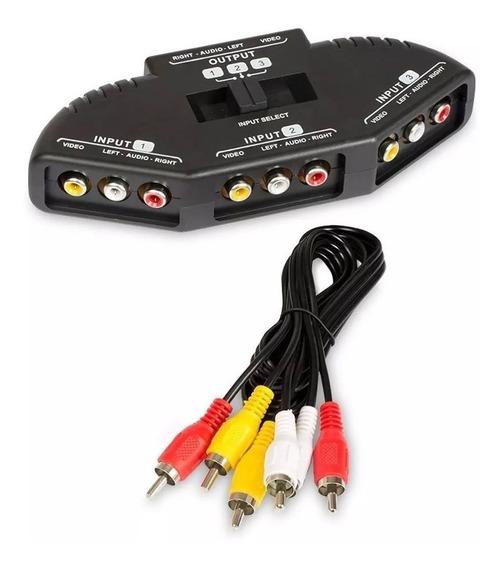 Selector Zurich Audio Y Video Stereo 3 Entradas 1 Salida Rca