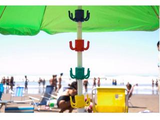 Gancho Cuelga Objetos En Sombrillas De Playa