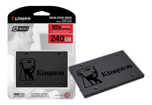 Imagen 1 de 6 de Disco Solido 240gb Kingston A400 Ssd Sata 3 Notebook Y Pc