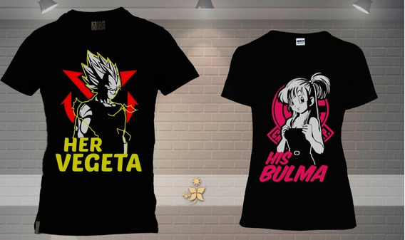 Duo De Playera Vegeta Y Bulma
