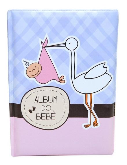 Álbum Do Bebê 100 Fotos 15x21 Várias Capas Menina