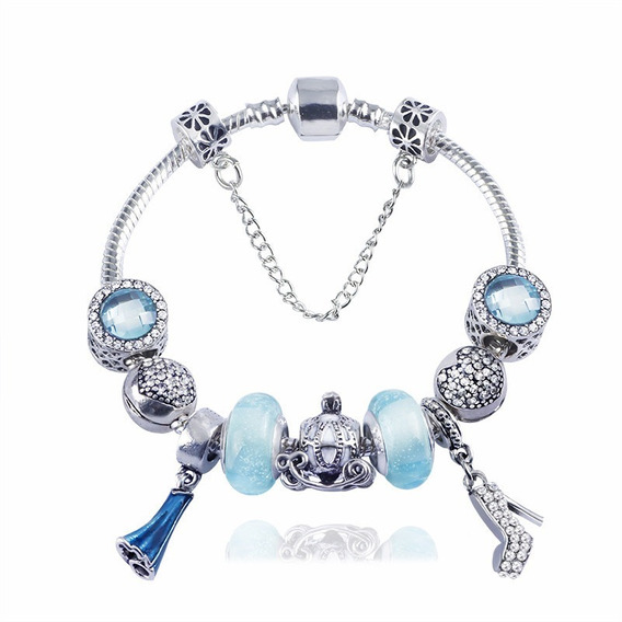 Pulsera Estilo Pandora Disney Princesa Elsa Frozen S925