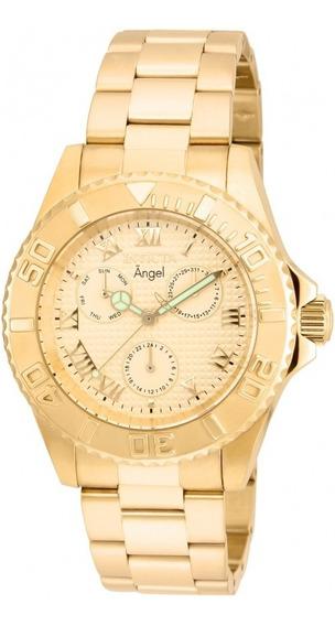 Relógio Invicta 17524 Dourado Ouro 18k Feminino - Angel