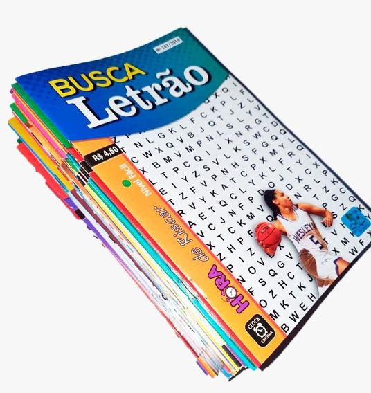 Kit 45 Caça Palavras Letrão Só Letra Grande Sem Repetições