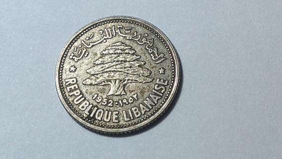 Moneda Líbano 50 Piastras, 1952 Plata 0.600 Lote 1280