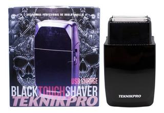 Teknikpro Black Touch Shaver Afeitadora Doble Rodillo Usb
