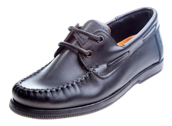 Zapato Colegial Acordonado Cuero