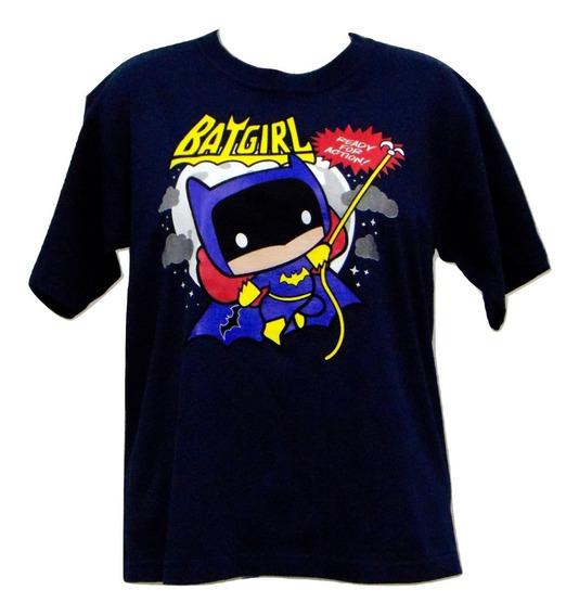 Playera Original Kids Ilustración Batgirl Azul Envió Gratis