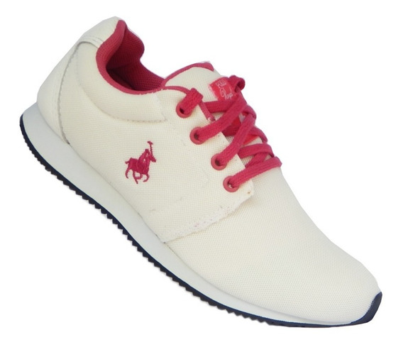 Tênis Polo Royal Jogging - Branco Com Rosa 34,35
