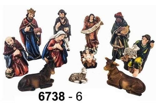 Imagen 1 de 7 de Nacimiento Navidad 6738-6 Mide 15cm